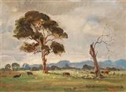 Sale 8624 - Lot 549 - William Dargie (1912 - 2003) - Beginning & Ending - Winter 29.5 x 40cm