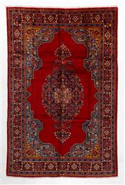 Sale 8770C - Lot 48 - A Persian Tabriz Wool And Silk Inlaid Pile, 342 x 224cm