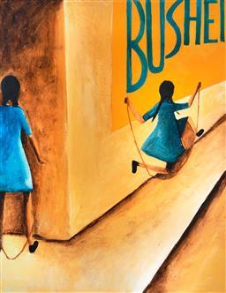 Sale 8867 - Lot 569 - Charles Blackman (1924 - 2018) - Skipping Girls 87 x 67 cm