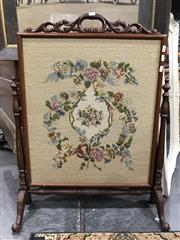 Sale 8809 - Lot 1080 - Carved Timber Framed Tapestry Firescreen