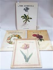 Sale 8822B - Lot 810 - 4 Volumes Ariel Press The Auricula; The Best of Redoutes Roses; Pierre-Joseph Redoute Roses 2; Pierre-Joseph Redoute Fruits...
