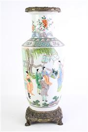 Sale 8840S - Lot 613 - A Famile Verte Chinese Vase with Kangxi Mark (H 40cm)