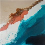 Sale 9047 - Lot 514 - Cheryl Cusick - Beach Goers 101 x 101 cm