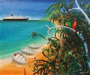 Sale 8624 - Lot 519 - Helen Norton (1961 - ) - Paradise Dock 1996 76 x 91cm