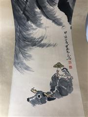 Sale 8739C - Lot 13 - Boy On Water Buffalo Chinese Scroll