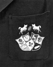 Sale 8754A - Lot 57 - Barbarians Crest, J.B. Nicholls, 1950s - 25 x 20cm
