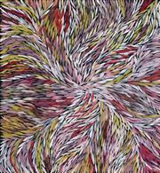 Sale 8764A - Lot 5032 - Jeannie Petyarre (1956 - ) - Bush Yam Leaves 95 x 88cm