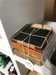 Sale 8789 - Lot 2380 - 3 Boxes of Glass Plate Slides incl Natural History, Farm Toure, etc