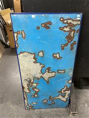 Sale 8906 - Lot 2065 - Dan Murphy (USA) - Clay Pans, Early Morning, recycled car panels, 125 x 63cm, artists label verso