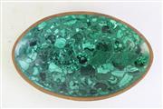 Sale 8968 - Lot 63 - An Oval Shaped Malachite Dish (W24cm)