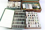 Sale 8997 - Lot 24 - An Argus Projector together with 4 Boxes of Colour Slides incl Queen Mary Cruise Ship, USS Coral Sea Aircraft Carrier & Britannia