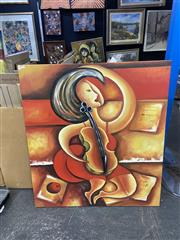 Sale 9004 - Lot 2085 - Artist Unknown Lolas Theme acrylic on canvas, 100 x 90cm, unsigned