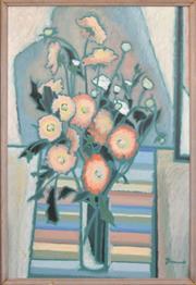 Sale 8301A - Lot 22 - Joanne Thew (1952 - ) - Still Life 85.5 x 57.5cm
