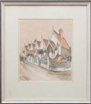Sale 8375A - Lot 25 - V. White - Union Street, Paddington 25 x 22 cm