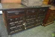 Sale 8383 - Lot 1341 - Three Drawer and Door Sideboard