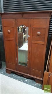 Sale 8390 - Lot 1622 - Mirrored Front Wardrobe