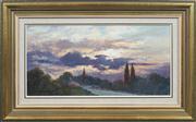 Sale 8411A - Lot 5002 - Leonard Long (1911 - 2013) - Evening Sky, Berry, NSW 24 x 49.5cm
