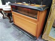 Sale 8462 - Lot 1005 - Retro Glass Front Bar Unit