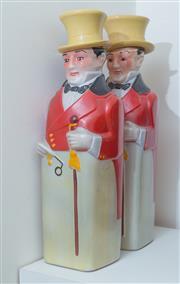 Sale 8486A - Lot 68 - Two novelty bottles of Johnny Walker in ceramic