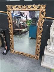 Sale 8620 - Lot 1004 - Ornate Gilt Framed Rectangular Mirror (145 x 95cm)