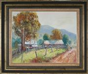 Sale 8947 - Lot 598 - James Wynne (1944 - ) - Batar Creek Road Farm, Kendall 40 x 50 cm (frame: 57 x 67 x 5 cm )