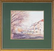 Sale 9041 - Lot 2096 - James Wynne (1944 - ) - Winters Day, Havanah Street, Bathurst, 1995 33 x 38.5 cm (frame: 62 x 66 x 3 cm)