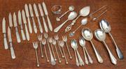 Sale 9071H - Lot 100 - A quantity of assorted mainly silver plated cutlery including fruit knives and forks, jam spoons etc
