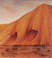 Sale 9084 - Lot 601 - Lambert Visser (1949 - ) - Uluru Series 12, 2000 85.5 x 76.5 cm (frame: 88 x 78 x 4 cm)