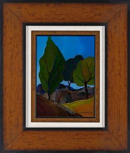 Sale 9154JM - Lot 5085 - ITZCHAK TARKAY (1935 - 2012) Silent Hillside serigraph, ed. A/P 45/75 32.5 x 23 cm (frame: 61 x 52 x 4 cm) signed lower right