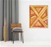 Sale 8288A - Lot 80 - Evelyn Pultara (c.1940 - ) - Awelye 88 x 72cm (ready to hang)
