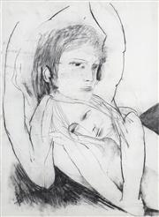Sale 8410A - Lot 5033 - Anne Hall (1945 - ) - Untitled (Two Lovers Reclining) 76.5 x 56cm (sheet size)