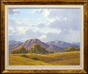 Sale 8415 - Lot 512 - Leonard Long (1911 - 2013) - Parachilna Ranges, Flinders Ranges South Australia 39.5 x 49.5cm