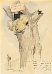 Sale 8467 - Lot 537 - Norman Lindsay (1879 - 1969) - William Bluegum 23 x 16cm