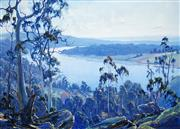 Sale 8484 - Lot 504 - Graham Cox (1941 - ) - Blue Heritage, Tasmania 56 x 76cm