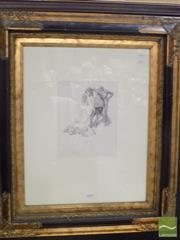 Sale 8513 - Lot 2016 - Norman Lindsay Mans Heaven facsimile etching, ed. 50/210, frame size: 70 x 60cm, certificate verso