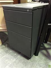 Sale 8620 - Lot 1023 - A Three Drawer Filing Cabinet on Castors
