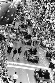 Sale 8754A - Lot 59 - Australian Rugby Team Celebrates World Cup Win, George Street, Sydney, 1991 - 28 x 20cm