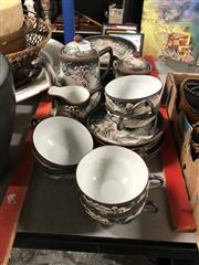Sale 8819 - Lot 2503 - Japanese Ceramic Dragon Tea Wares