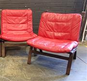 Sale 9056 - Lot 1028 - Pair of Danish Style Bent Ply Lounge Chairs (h:81 x w:64 x d:56cm)