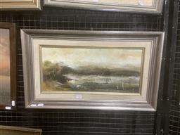 Sale 9111 - Lot 2038 - Ken Taber The Swamp oil on board 35 x 59cm (frame) signed