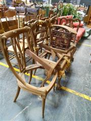 Sale 7943A - Lot 1502 - Collection of 5 Carved Chairs AF