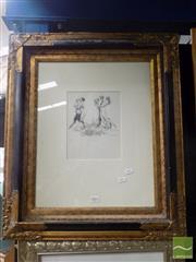 Sale 8513 - Lot 2001 - Norman Lindsay - The Pilgrims, facsimile etching, ed.53/210, frame size: 70 x 60cm, certificate verso