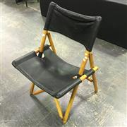 Sale 8643 - Lot 1058 - Zanotti Timber and Leather Folding Chair