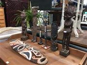 Sale 8787 - Lot 1086 - A Group of 7 Oceanic Tribal Items