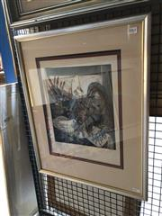 Sale 8816 - Lot 2047 - Artist Unknown - La Paloma, etching and aquatint, ed. 11/20 frame size: 58 x 48cm, signed lower right