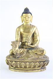 Sale 8840 - Lot 88 - A Small Chinese Brass Buddha Figure (H 15cm)