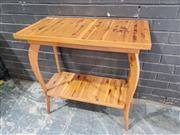 Sale 8962 - Lot 1018 - Timber Two Tier Hall Table (H:79 x W:80 x D:41cm)