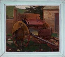 Sale 8976A - Lot 5021 - Vaughan Murray Griffin (1903 - 1992) - Cart Painting 1937 36 x 42 cm (frame: 44 x 30 x 3 cm)
