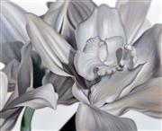 Sale 8408 - Lot 594 - Leanne Thomas (XX) - Silver Orchid, 2012 112 x 137.5cm