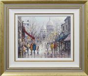 Sale 8415 - Lot 511 - Ramon Ward Thompson (1941 - ) - Sacré Cœur - Montmarte, Paris 29.5 x 37cm